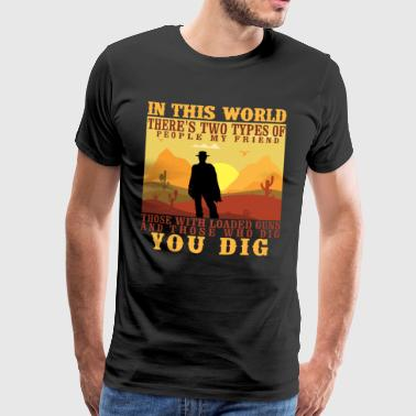 Clint Eastwood Vintage Cowboy Wild West Gift Idea - Men's Premium T-Shirt
