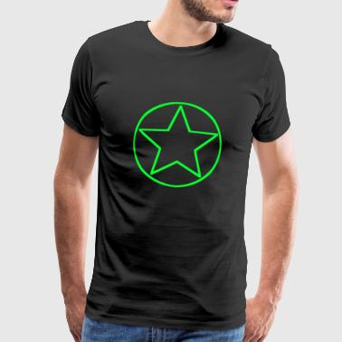 Circle star green - Men's Premium T-Shirt