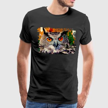 gxp owl strix bird v2 vector art - Men's Premium T-Shirt