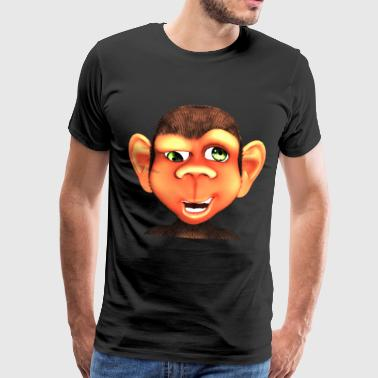 Facial Expression Monkey Portrait Chimpanzee Chimpanzee Comic Godigart - Men's Premium T-Shirt
