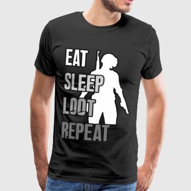 EAT SLEEP LOOT REPEAT - Das PUBG Shirt - Männer Premium T-Shirt