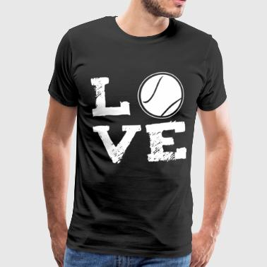LOVE - Tennis - Premium T-skjorte for menn