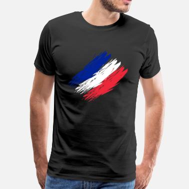 Nation Drapeau de la France - T-shirt Premium Homme