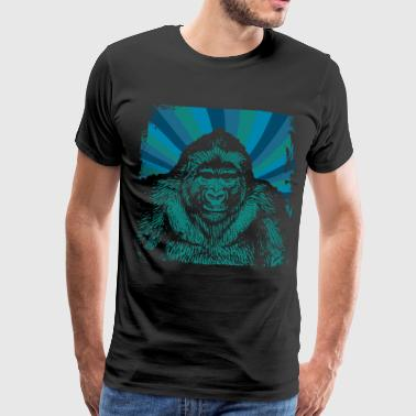 Gorilla monkey face - Men's Premium T-Shirt