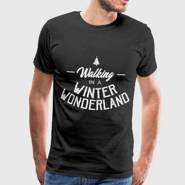 Fairy Walking in a winter wonderland - Men's Premium T-Shirt