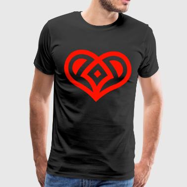 Amor heart - Men's Premium T-Shirt