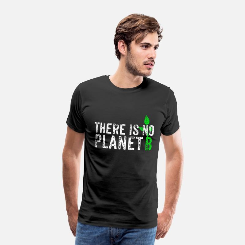 Planet T-shirt - Der er ingen planet B - Herre premium T-shirt sort
