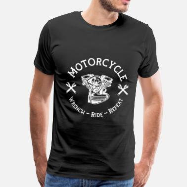 Mc Motorcycle - Wrench Ride Repeat | Biker gave - Premium T-skjorte for menn