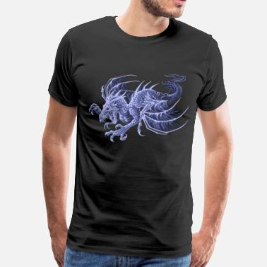 Mythical Collection V2 ghost dragon - Men's Premium T-Shirt