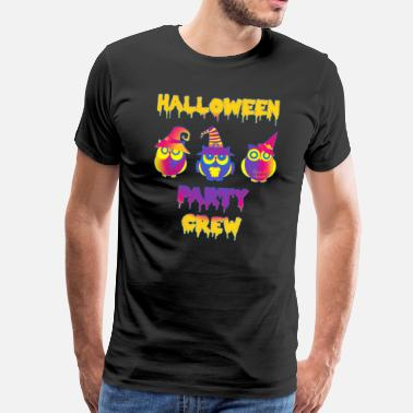 Colorful Crew Halloween party crew owls colorful - Men's Premium T-Shirt