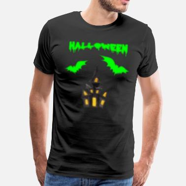 Fear Halloween castle bat - Men's Premium T-Shirt