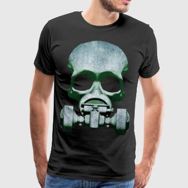 Steampunk Skull Gas Mask Men's Premium T-Shirt - Mannen Premium T-shirt