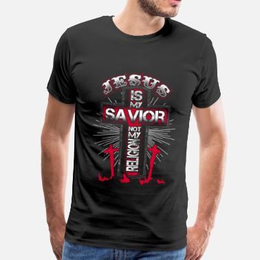 Is Jesus is my Savior - EN - Herre premium T-shirt