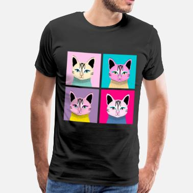 Pop Art Pop Art Cat - Meow - Männer Premium T-Shirt