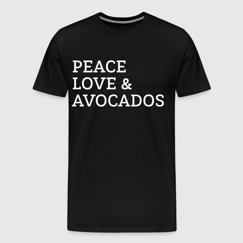 Peace, Love & Avocados - Men's Premium T-Shirt