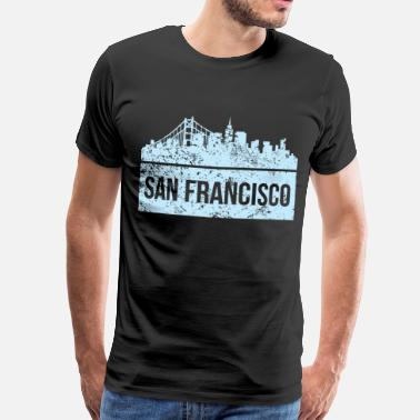 Fran Vintage San Francisco Skyline City View San Fran Shirt - Men's Premium T-Shirt