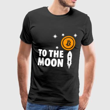 Funny Single Bitcoin To The moon Cryptocurrency Bitcoin Shirt - Men's Premium T-Shirt