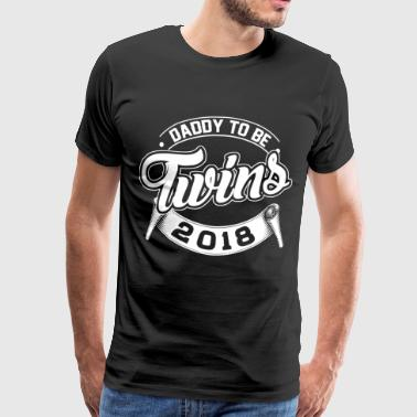 Daddy To Be Twins 2018 - Männer Premium T-Shirt