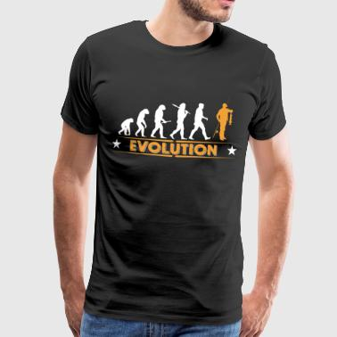 Fisk evolution - orange/vit - Premium-T-shirt herr