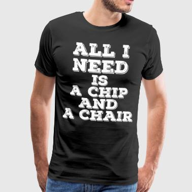 Chip Poker Spruch WSOP Casino Vegas All in Pot Ace - Männer Premium T-Shirt