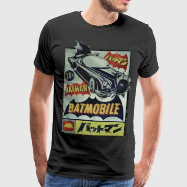 DC Comics Originals Batman Batmobile Japanese - Mannen Premium T-shirt
