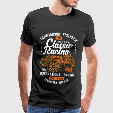 Pick Up Truck SPEEDRACE 1984 - Vintage Racing Shirt Motif - Men's Premium T-Shirt