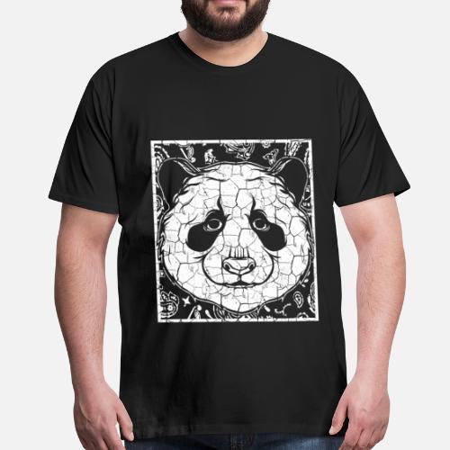 Panda Giant Panda Giant Panda Bambus Bjorn Premium T Skjorte For
