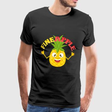 Pineapple Fineapple Pineapple Wortwitz Funny Fruit - Men's Premium T-Shirt