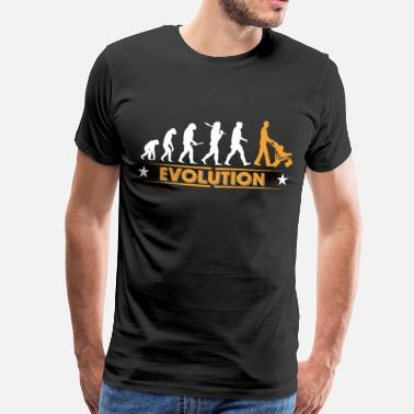 Evolution Father Walking Dad - Evolution - Men's Premium T-Shirt