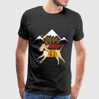 Hiking hiker dog dog owner puppy camping - Men's Premium T-Shirt
