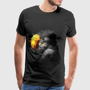 Smoking monkey - Men's Premium T-Shirt