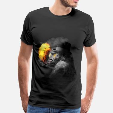 Fire Monkey Smoking monkey - Men's Premium T-Shirt