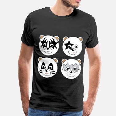 Kiss Kiss Bears (no text) - Men's Premium T-Shirt