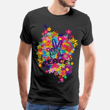 Sign NEW FLOWER POWER RAINBOW - PEACE - Männer Premium T-Shirt