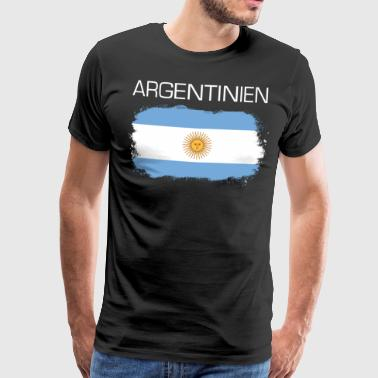 Football fan Argentina flag - Men's Premium T-Shirt