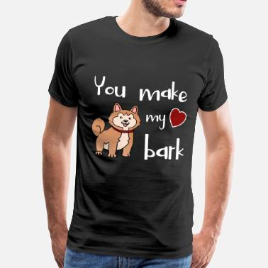 Akita Inu Akita You make my Heart bark - Männer Premium T-Shirt