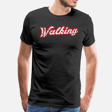 Sports Car wandelen - vintage & distressed - Mannen Premium T-shirt