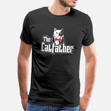 Maine Cat Dad Crazy Cats Vader Maine Coon Siam - Mannen Premium T-shirt