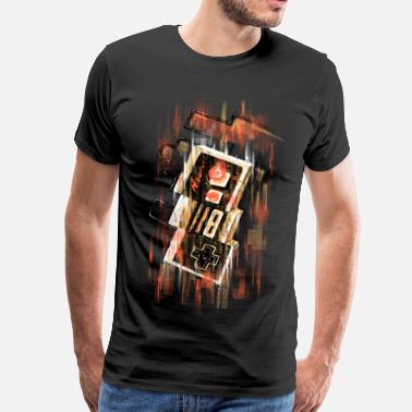 Gaming Blurry NES - Premium T-shirt herr