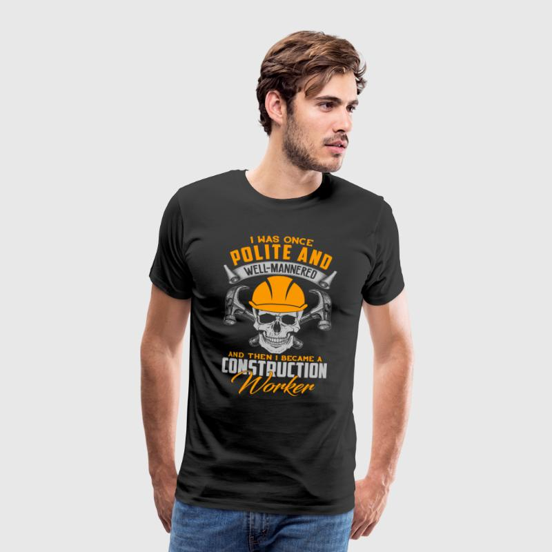 Construction Worker Skull Gift T-Shirt - Men's Premium T-Shirt