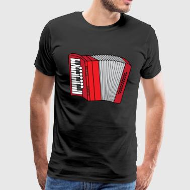 Accordéon Accordéon Folk musi Zieharmonika - T-shirt Premium Homme