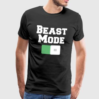 Motivational Beast Mode On Motivational Motiv Black - Mannen Premium T-shirt