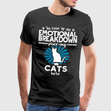 Cats emotional breakdown - cats - Men's Premium T-Shirt