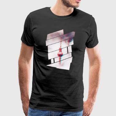 TV tower Berlin Glitch - Men's Premium T-Shirt