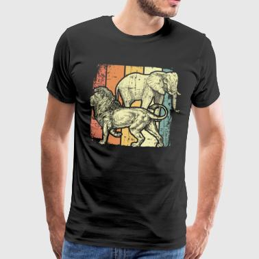 Lion elephant - Men's Premium T-Shirt