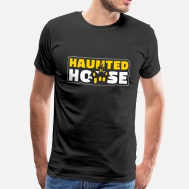 Acid House Haunted House Haunted House Haunted House Halloween - Mannen Premium T-shirt