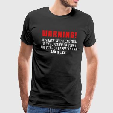 In my defense i what unsupervised supervision funny D - Men's Premium T-Shirt