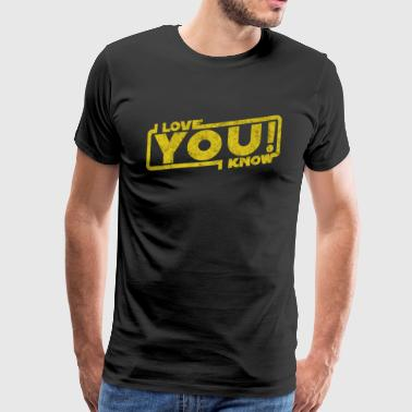 i love you i know - movie quote gift - Men's Premium T-Shirt