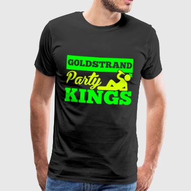 GOLDSTRAND PARTY KINGS - Herre premium T-shirt