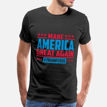 Donald Trump Make america great again trump 2016 - Koszulka męska Premium